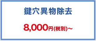 鍵穴異物除去 8,000円(税別)~